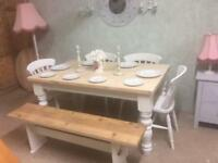 Table chairs benches dining