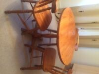 Wooden Table and 3 Chairs