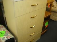 BIG 5-DRAWER CHEST OF DRAWERS