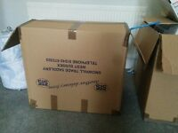 10x large strong double wall cardboard boxes for moving. box