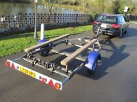 Snipe Galvanised roller bunked trailer for RIB rigid inflatable fishing river power 4-5.5M boat