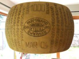 Cheese Lamp Shade - Parmigiano Reggiano shape