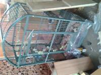 lovely cheap birs cage was used for iguanas payed 275 for it nice and solid
