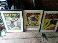 Retro frames prints