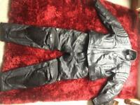 Richa motorbike leather trousers and jacket