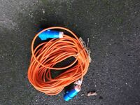 10m mains hookup lead for caravan/motorhome