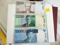 Three Nice Collectible Indonesian Banknotes