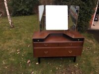 Dressing Table, G Plan, With Wolfe and Hollander stamped on the back.