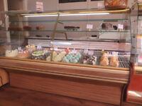 1x Cake Patisserie Display Fridge Cabinet, 1x Serveover Display Fridge Counter
