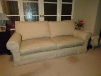 Collins and Hayes 3 seater sofa and 2 armchairs