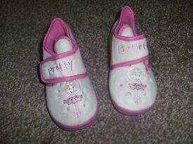 """Brand new """"Little Ballerina"""" pink slippers."""