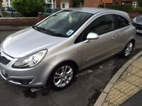 Silver 1.2 Vauxhall Corsa, 2007 plate