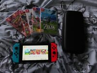 Nintendo Switch with 5 games
