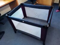 Used children, baby kid foldable travel bed cot from Mamas & Papas