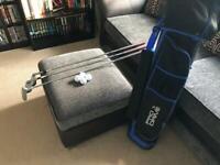 Pro Drive golf bag & 3 left-handed golf clubs