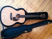 Martin OM-1gt with D-Tar pickup, Strap button and recent pro set up.