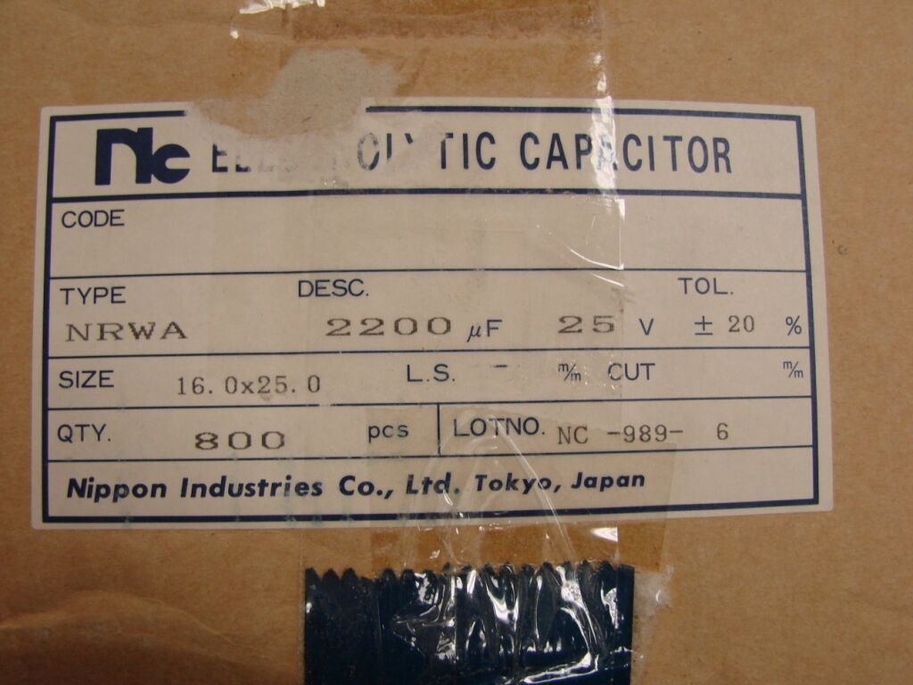 REA220M2G-1625 SURGE COMPONENTS CAPACITOR 22UF 400V 16X25mm RADIAL ROHS