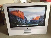 "Brand New iMac 27"" Retina (Late-2015 edition, 3.2 i5 processor, 8GB RAM, 3TB Fusion Hard Drive)"