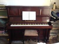 Bogs & Voigt Upright Piano & Stool - sounds beautiful