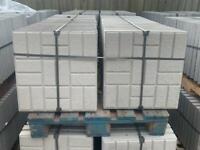 450X450X50MM - CONCRETE BLOCK DESIGN PAVING FLAGS / SLABS - NEW