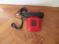 Vintage Dialatron Carrera 10 Red and Black Telephone