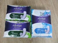 Always Discreet pads 2 x normal, 1 x long plus