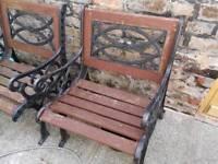 Cast iron gardens chairs upcycle project