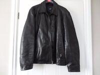 "Gap Leather Jacket Size 44"" chest"