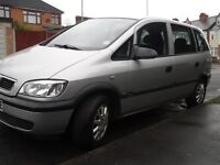 Vauxhall Zafira,7 Seater diesel,Silver,54 plate,MOT'd,123,000 miles