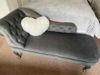 Grey chaise longue sofa