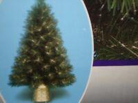 3 FT FIBRE OPTIC GREEN SPARKLE STARBURST CHRISTMAS TREE BOXED