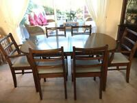 Solid Wood Extending Table with Chairs