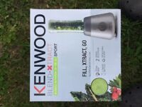 Kenwood blender extractor sport edition with free box