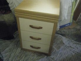 BEDSIDE TABLE 3 DRAWER CABINET nice clean condition