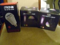 3 disco DJ stage lights 2 dome 1 relflects motion hearts new in box