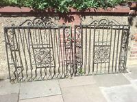 SET OF HEAVY ORNATE EDWARDIAN WROUGHT IRON GATES