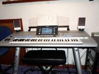 Yamaha tyros 4, speakers,stand and stool.