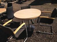 Round meeting table 120cm with 3 chairs. Delivery