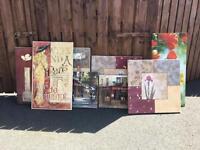 Set of 8 Canvas prints
