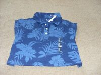 Mens Gap Flowery Polo shirt size Small Medium 38 chest.New with tags
