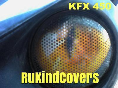 KFX 450 KAWASAKI YELLOW  Eyes kfx450 ATV UTV MX SAND DUNES RUKINDCOVERS