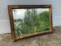 Mirror. Bevelled glass decorative vintage style approx 105x75cm