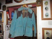 Mans Blue Suede jacket