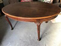 Large Antique Solid Mahogany Dining Table