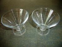 2 Italian glass sundae dishes. £1 for both.