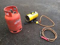 Propane bottle, blow torch and Master BLP 10kw space heater