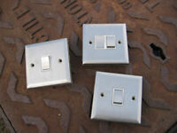 Three used but good condition light switches, all are 2 way
