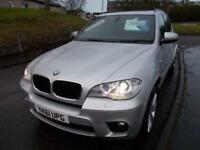 BMW X5 3.0 XDRIVE30D M SPORT 5d AUTO 241 BHP (silver) 2011