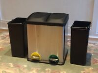 30 Litre Recycling Pedal Bin with 2 Compartments