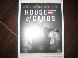 House of Cards: The Complete First Season. DVD. Congressman Francis Underwood (Kevin Spacey) Claire (Robin Wright)